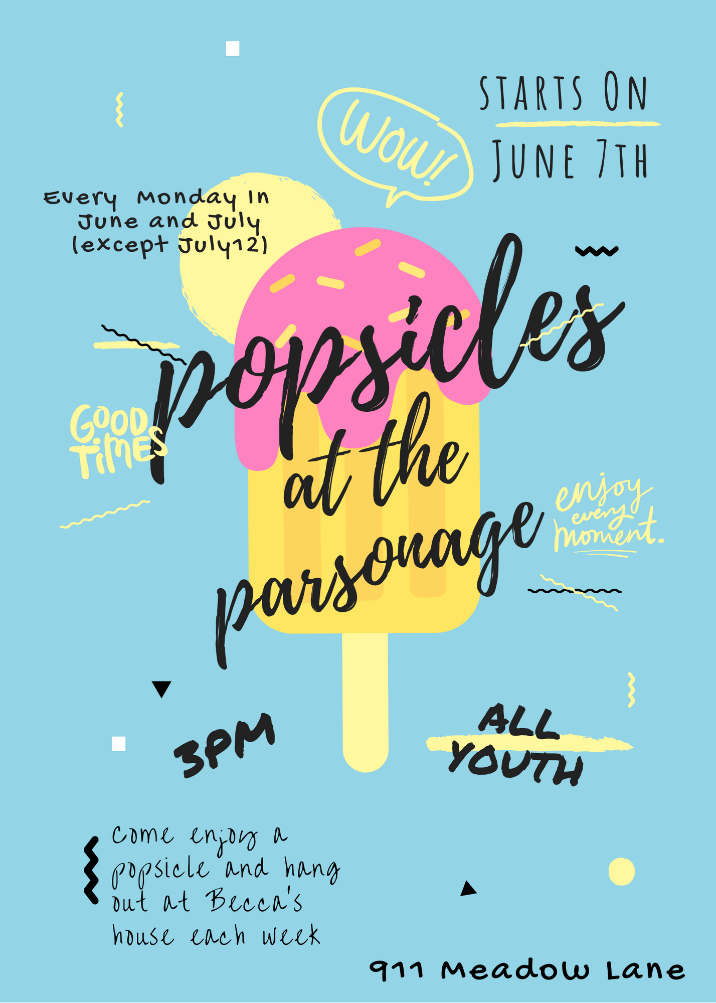 Popsicles at the parsonage (1)